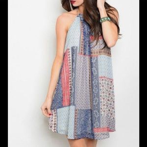 NWOT Eloise Anthropologie floral patch shift dress